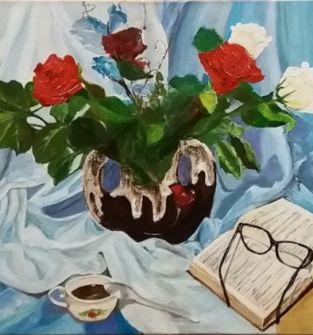 obraz ręcznie malowany - PRZEMIJANIE 1 -akryl na płótnie