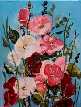 Malwy - Obraz recznie malowany-akryl na płótnie