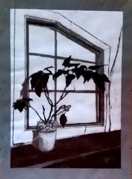 Rysunek węglem-Okno