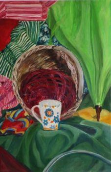 obraz ręcznie malowany - martwa natura 4- akryl na płótnie