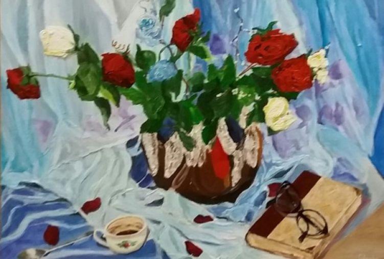obraz ręcznie malowany - PRZEMIJANIE 2 -akryl na płótnie